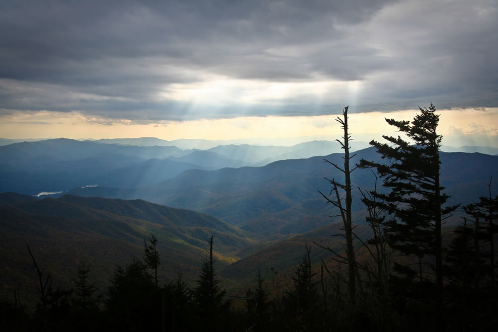 Clingman's Dome, autumn in Smoky Mountains National Park
