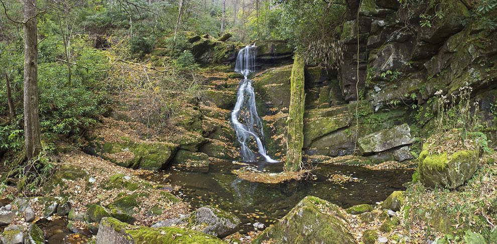 GSMNP Roaring Fork, Upper Grotto Falls