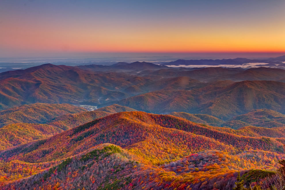 Mt. Cammerer Sunrise, Great Smoky Mountains National Park