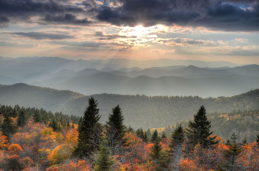 Overlooking Cowee Mountain in the Great Smoky Mountains