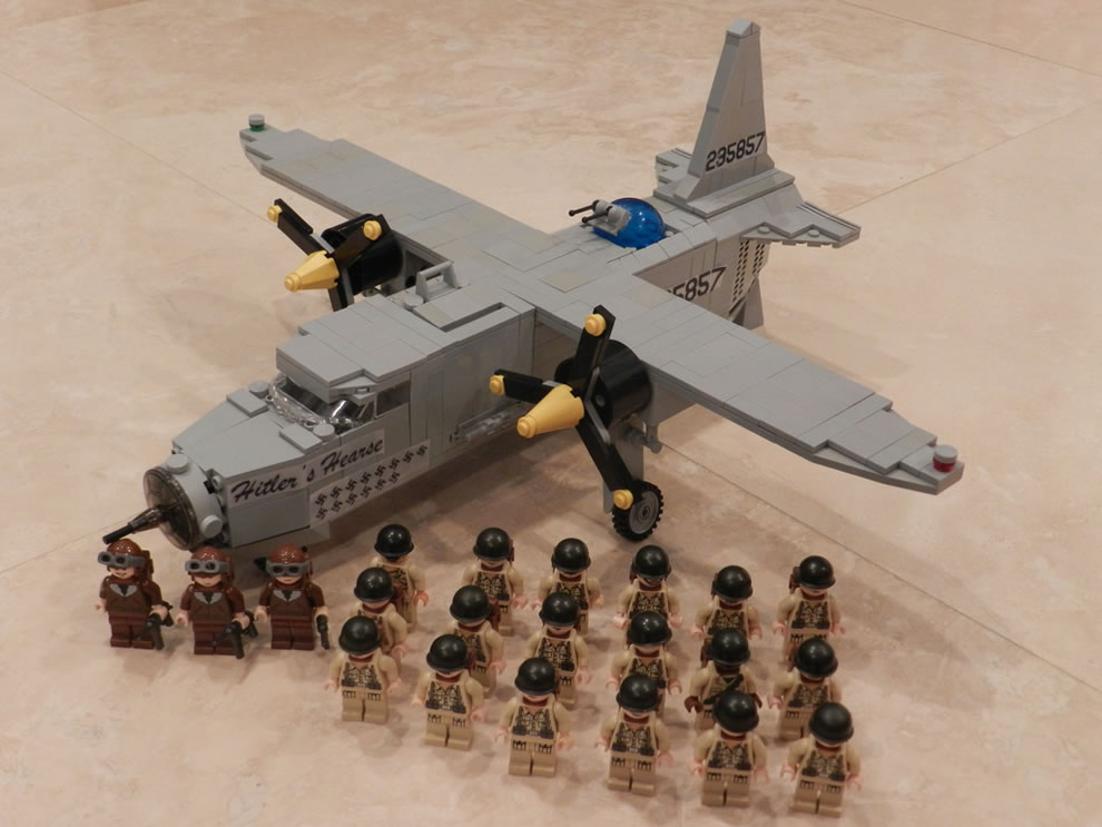 WWII LEGO Legoliner Pilot B26 Bomber