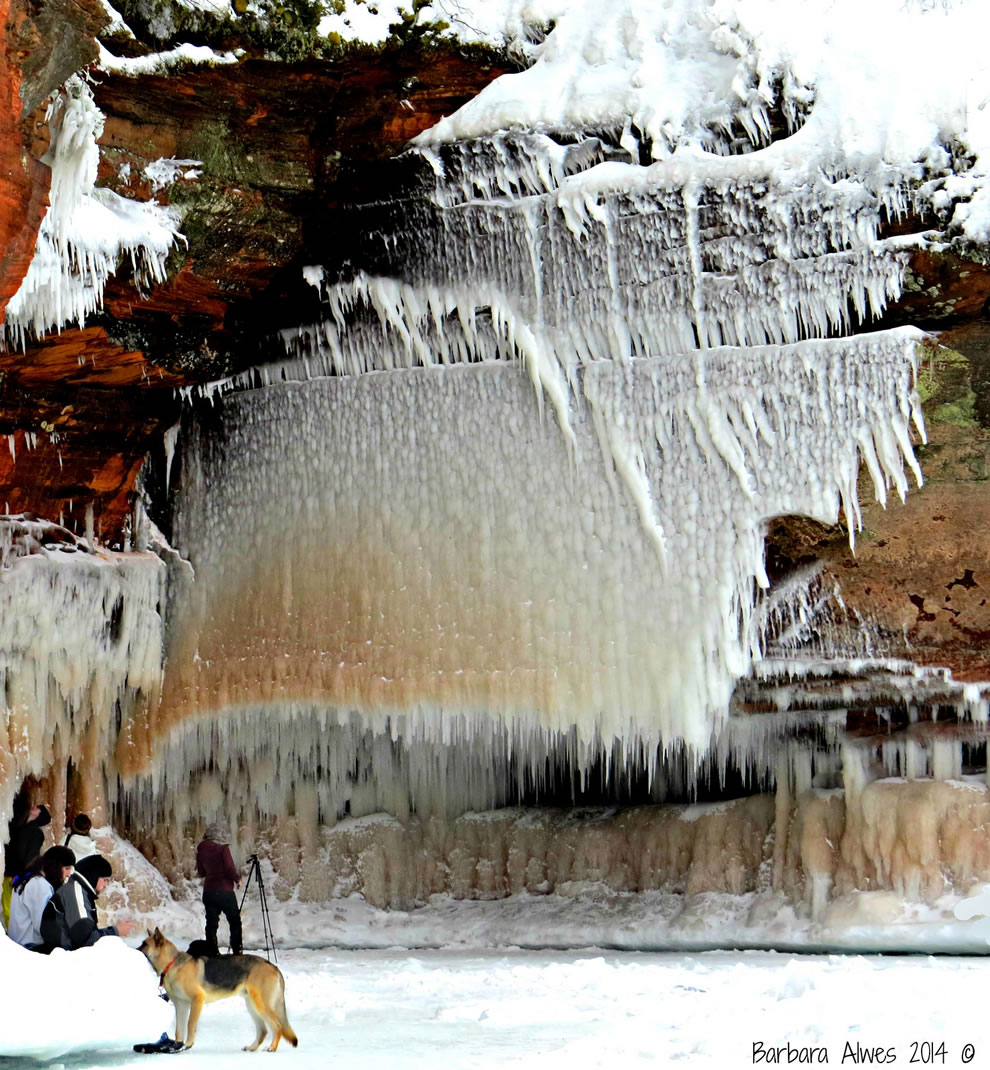 Ice formation along Lake Superior near Bayfield