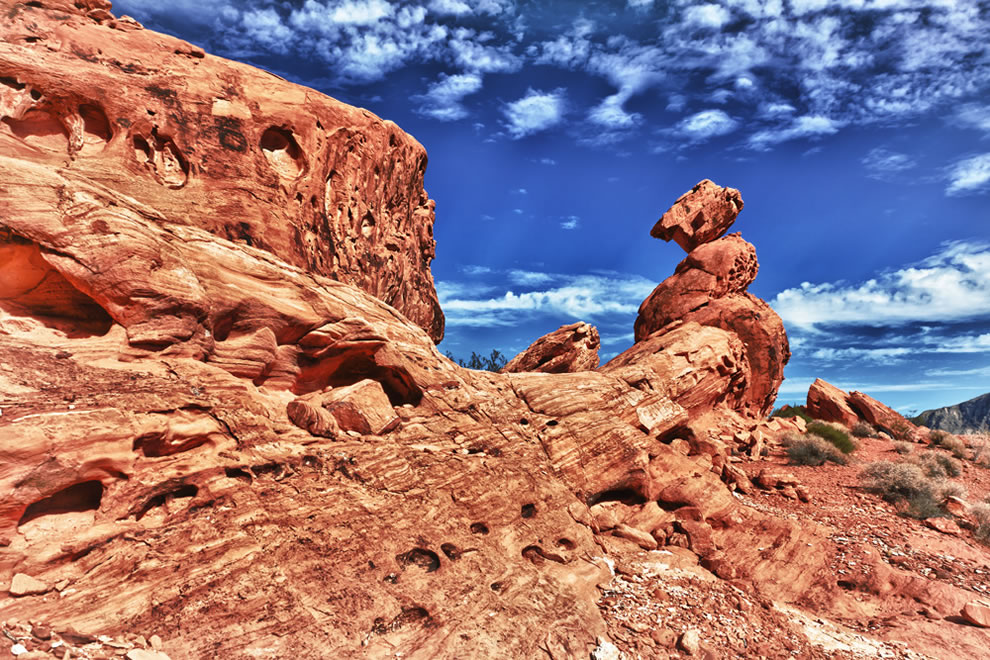 Balancing Rock in the Valley of Fire