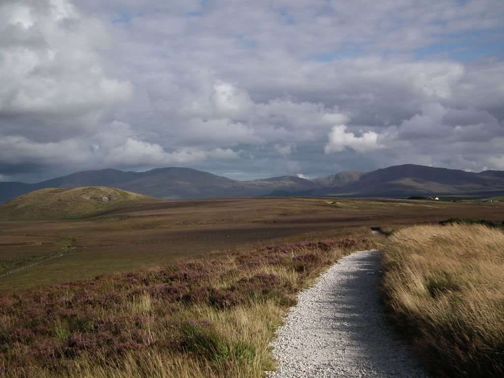 Ballycroy National Park looking towards the Nephin Beg mountain range