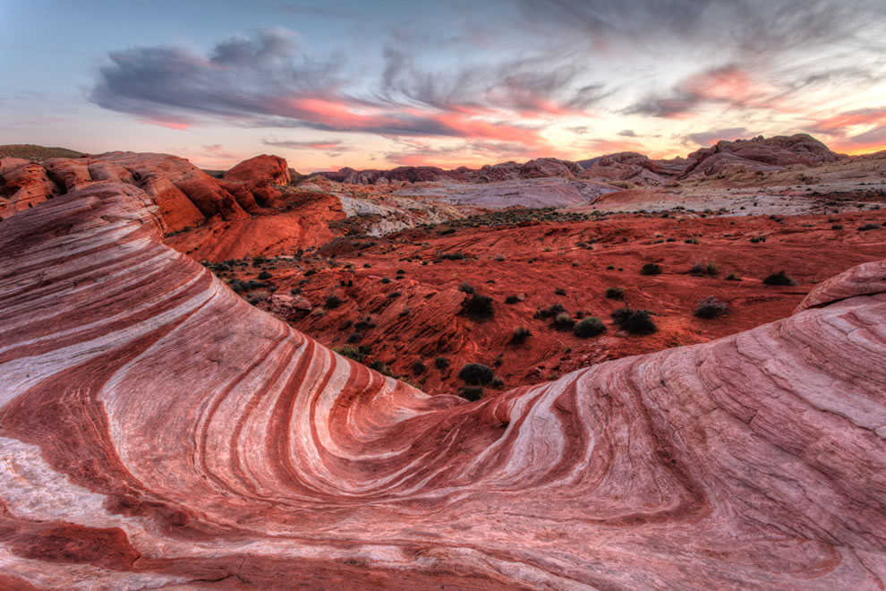 Fire Wave Sunset at Valley Of Fire State Park, Nevada