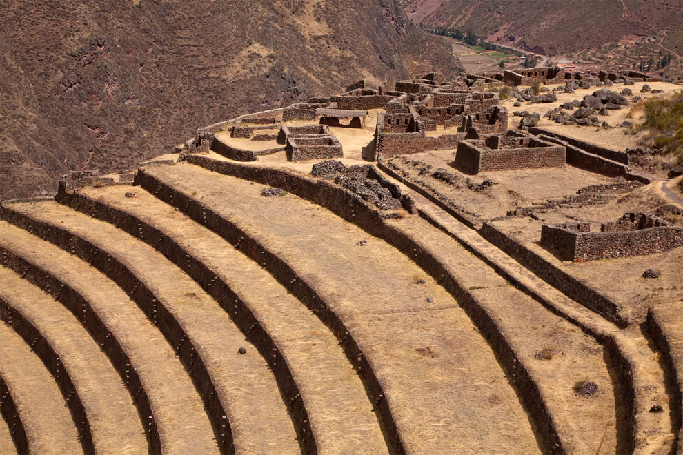 Pisac, Incan ruins and terraces