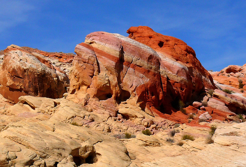 Rainbow rock formation at the Valley of Fire