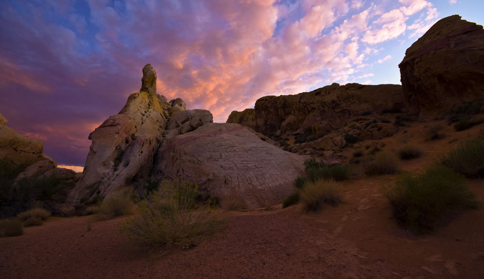 Stitched Panorama, rock formation Valley of Fire