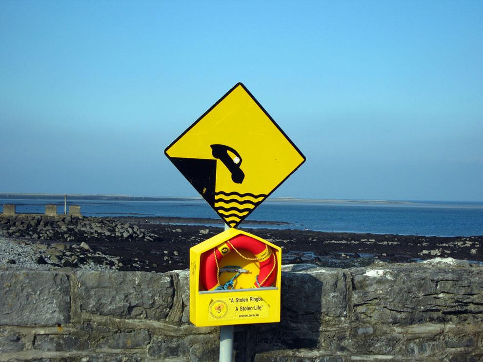 The Burren caution sign