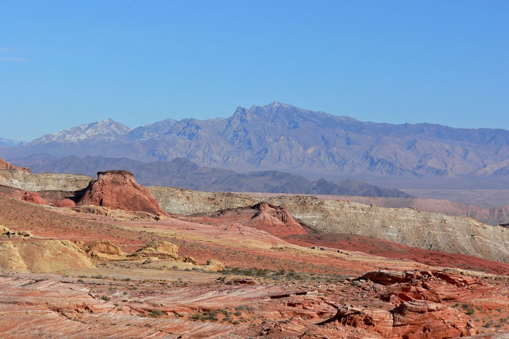 Virgin Mountains seen from Valley of Fire, southern Nevada