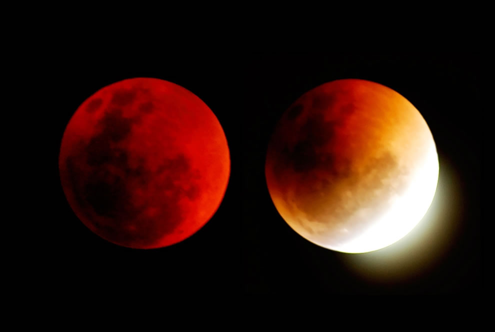 Blood red moon, total lunar eclipse in 2007