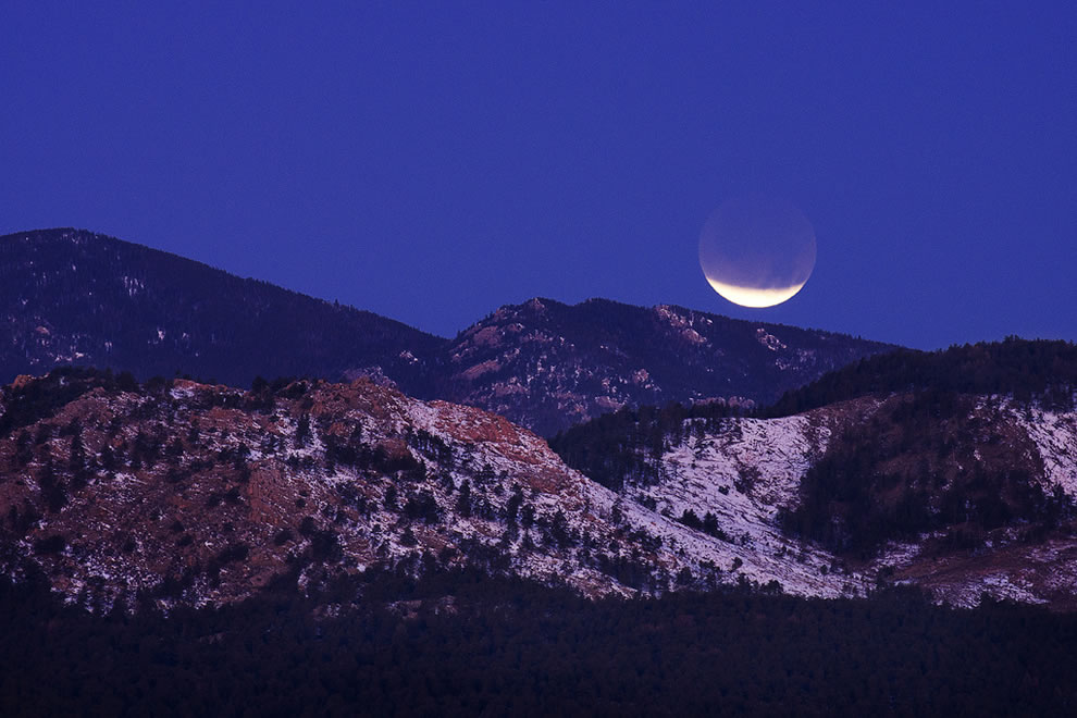 Lunar Eclipse from Devil's Backbone in Colorado