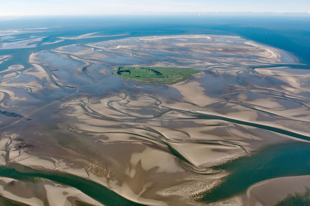 Island Neuwerk near Hamburg in Germany's Wadden Sea