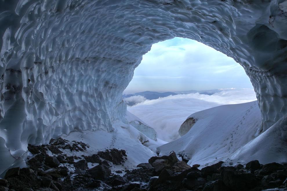 Mt Hood glacial cave