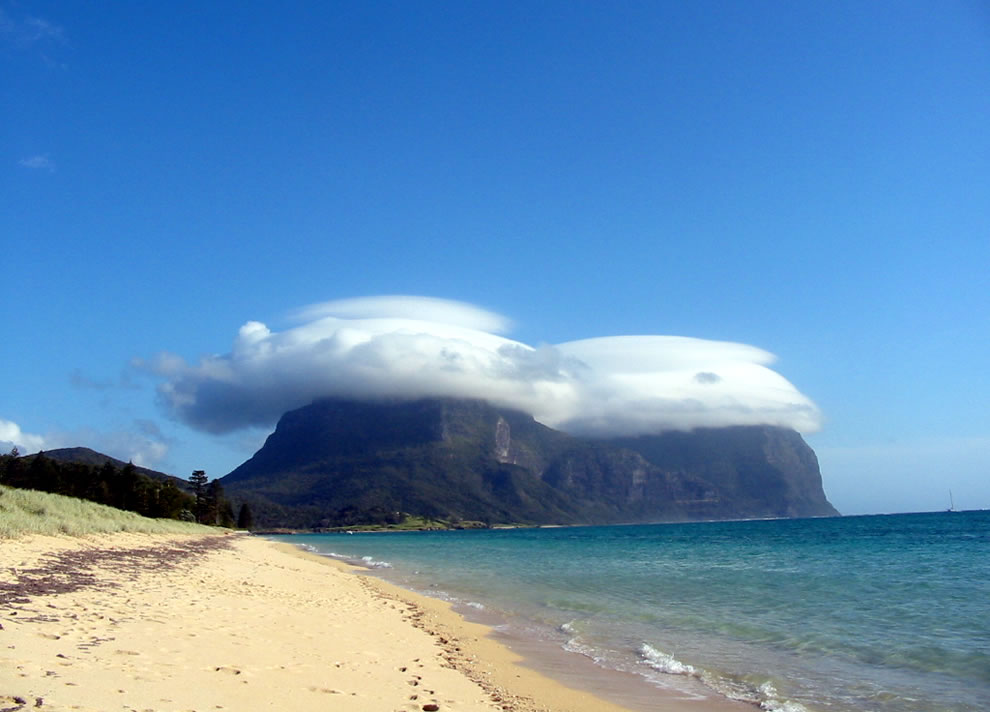 Lenticular Cloud over Mt Lidgbird and Mt Gower, Lord Howe Island, Australia