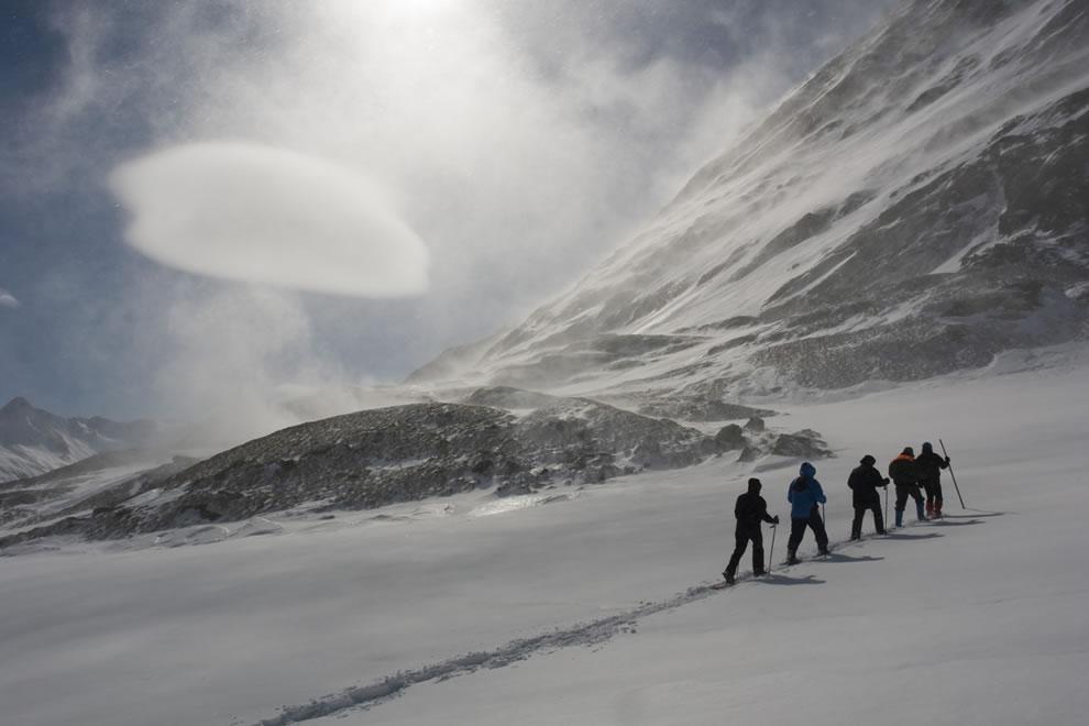 Lenticular cloud in the alps