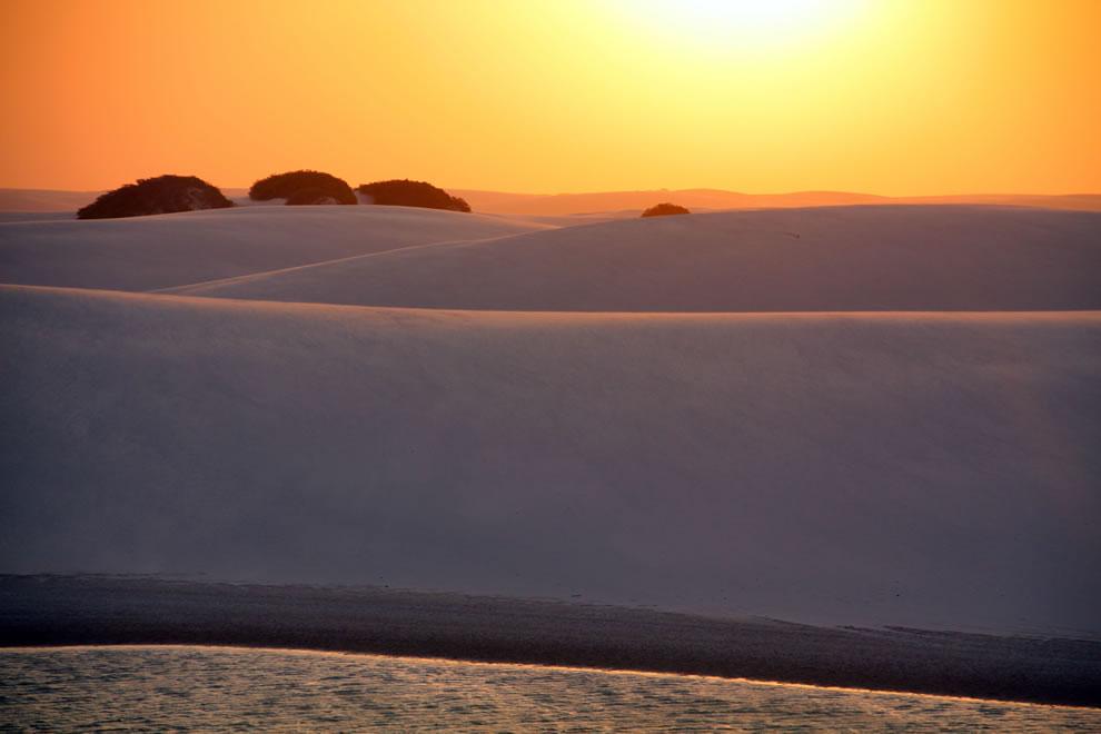 Spectacular sunrises and sunsets in Brazil, Lencois Maranhenses