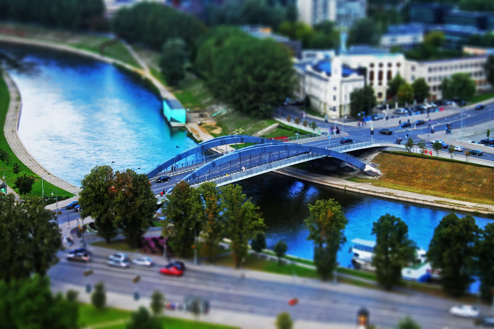 Build A Bridge, tilt shift in Lithuania