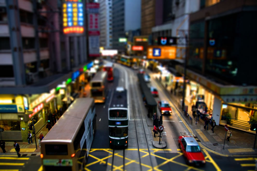 Hong Kong tilt shift