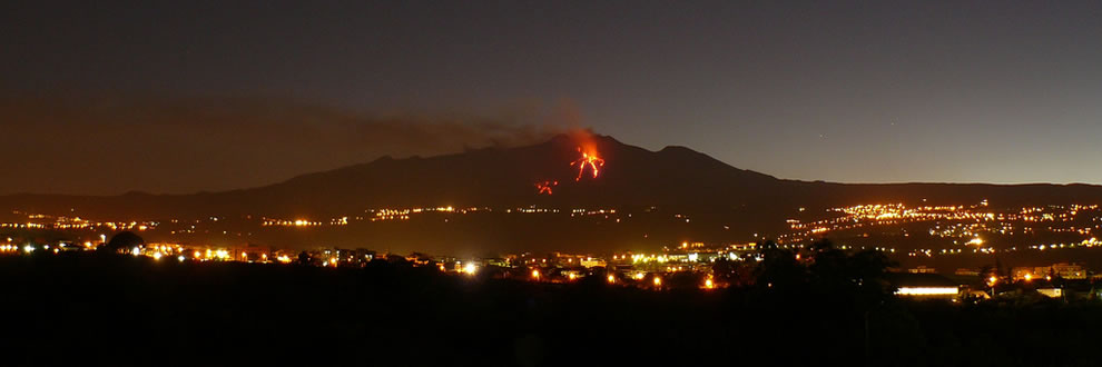 Mount Etna in June 2008