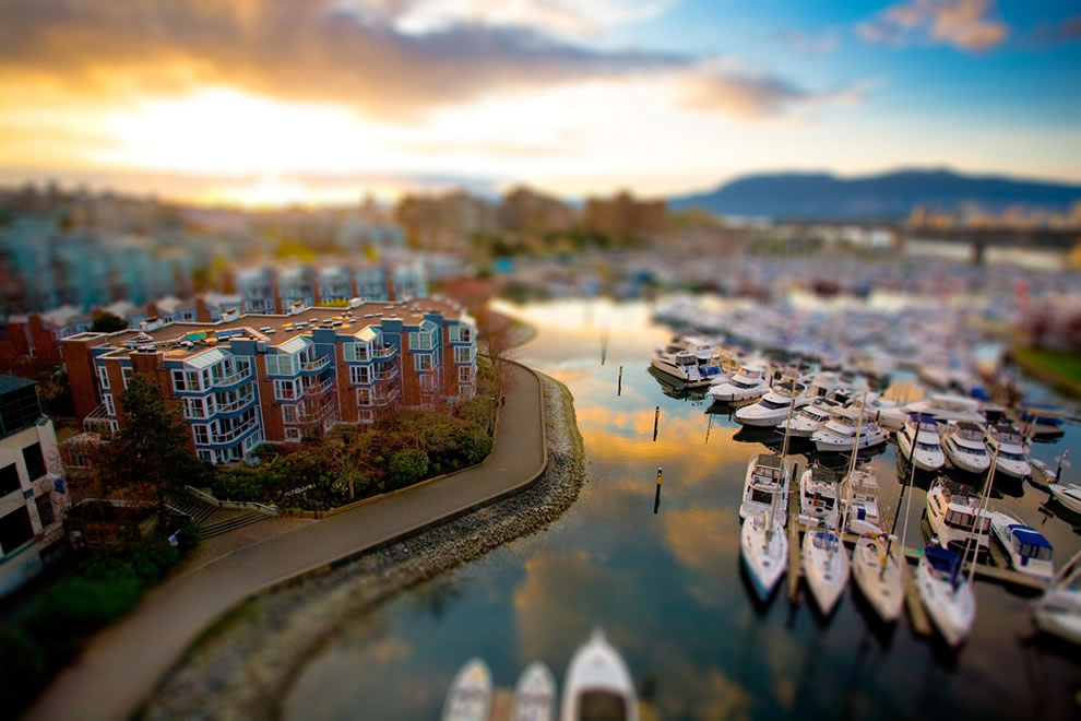 Tilt shift to toyland, Granville Island, Vancouver, British Columbia