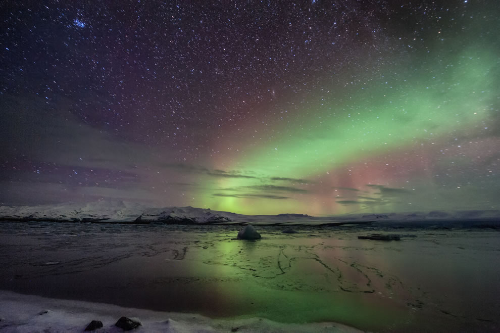 Amazing auroras in magical Iceland