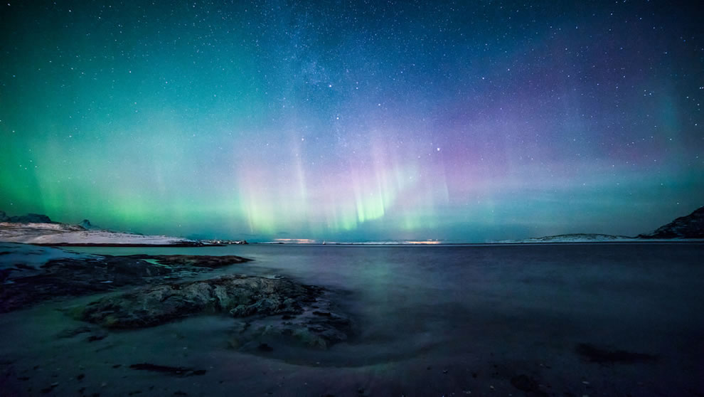 Aurora over Mjelle, Nordland, Norway