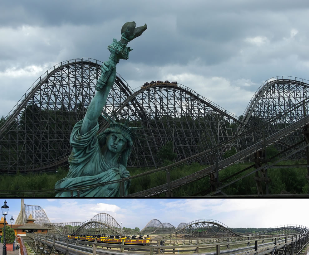 Colossos world's tallest wooden roller coaster