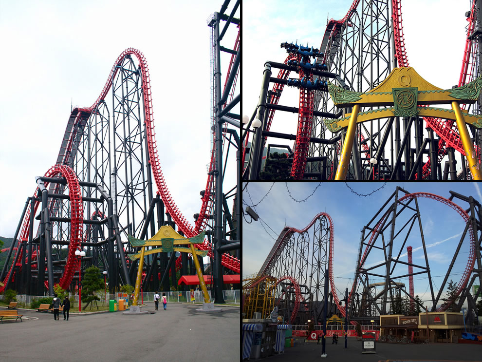 Eejanaika 4D coaster with most inversions