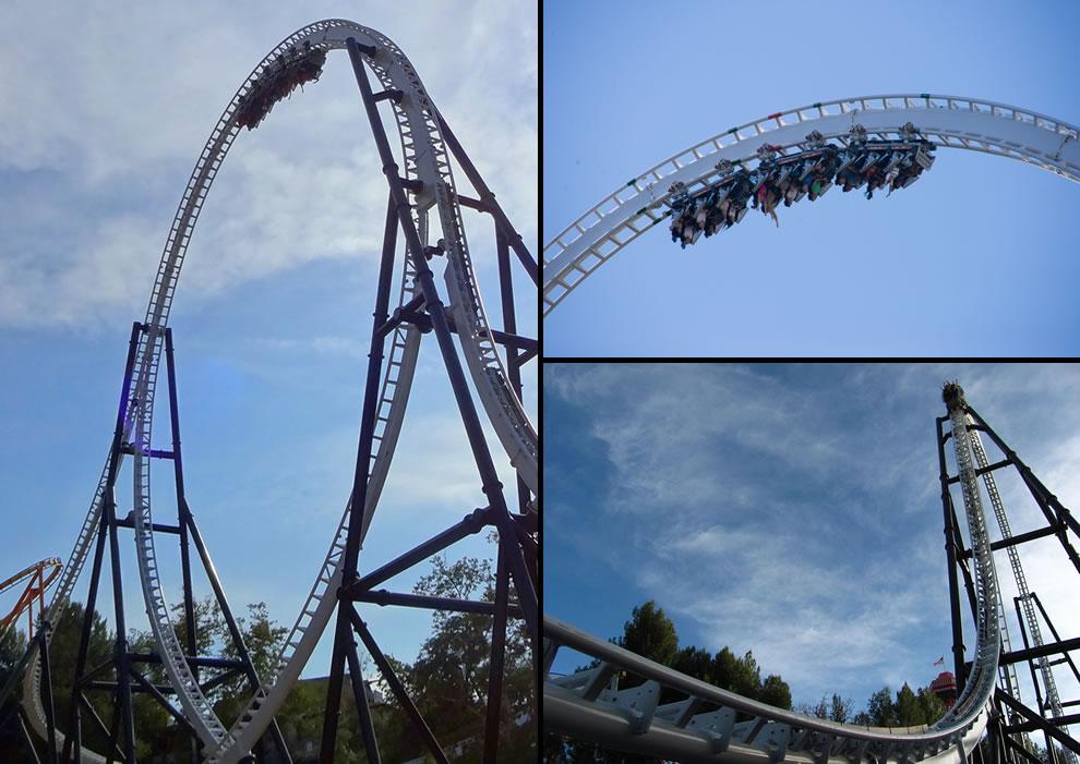 Full Throttle roller coaster world's tallest vertical loop
