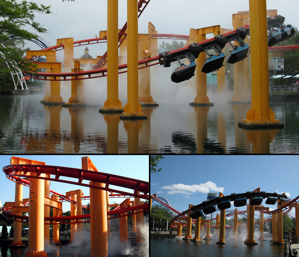 Iron Dragon ranked 1st in suspended coasters for its length