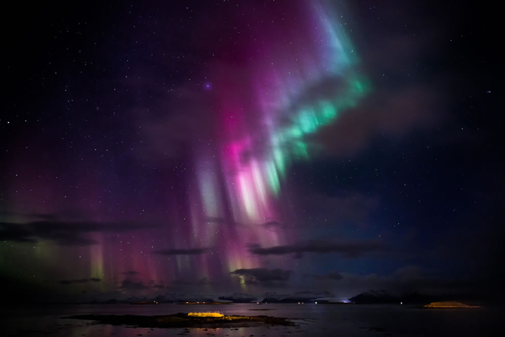 Nightlife show by nature in Iceland