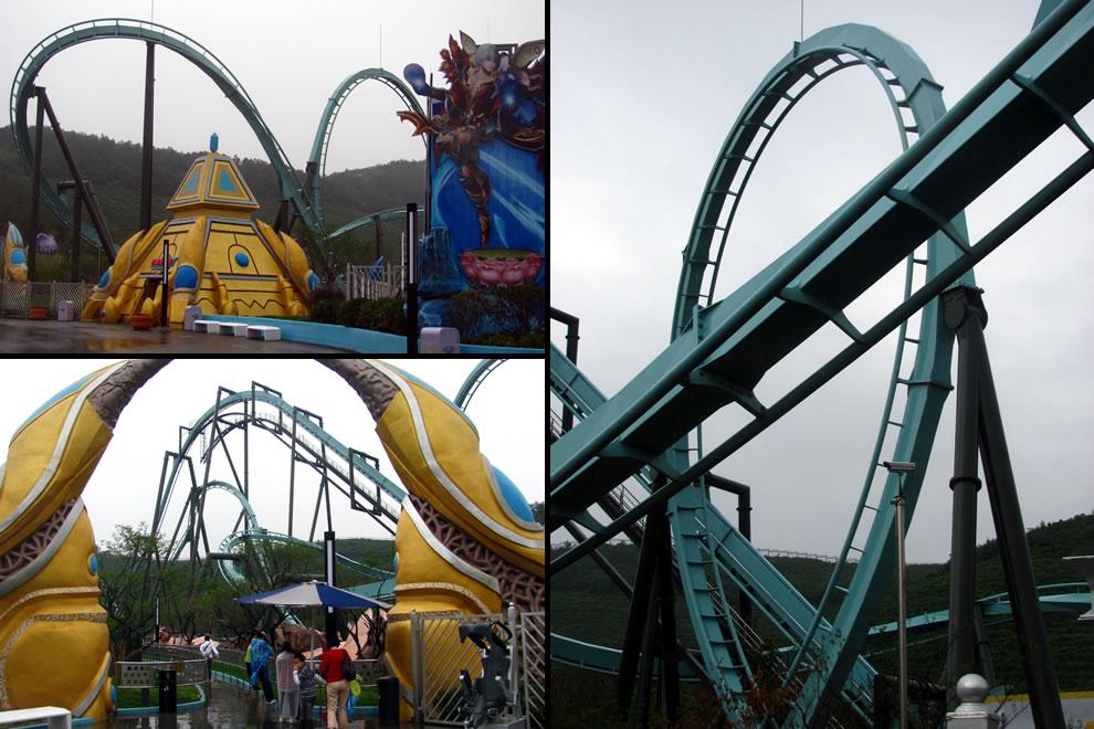 Sky Scrapper flying roller coaster record holder inversions