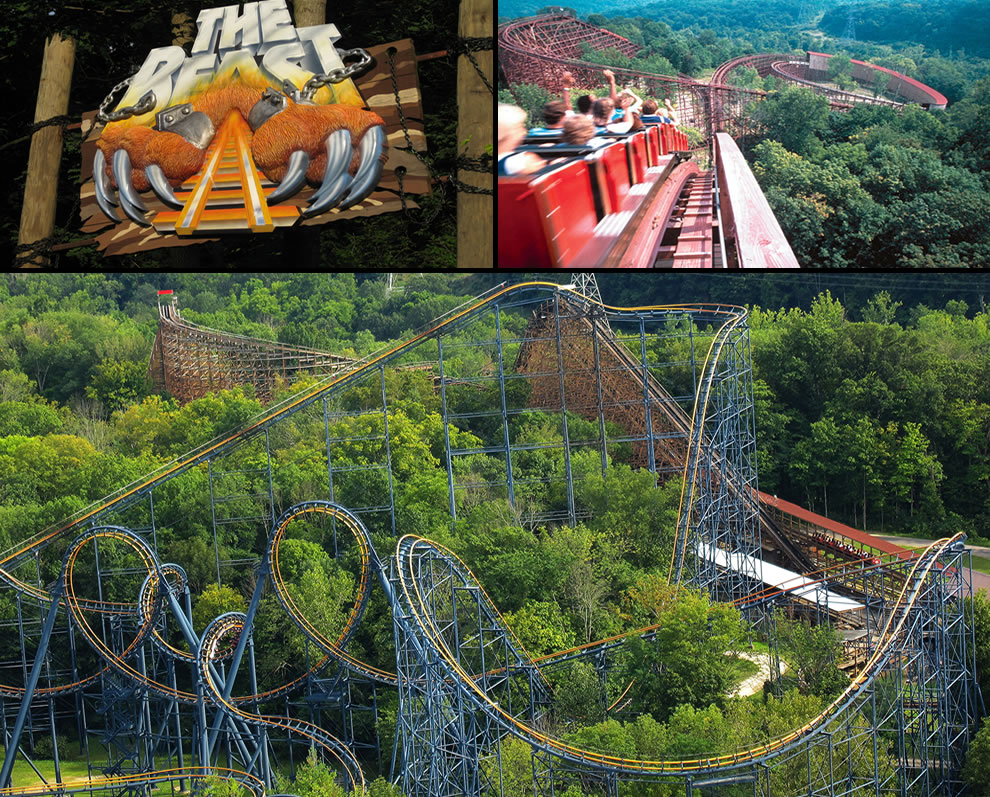 The Beast roller coaster at Kings Island