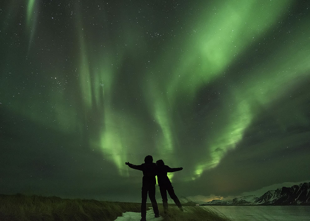 Together, Under Magic in Snaefellsnes, Iceland