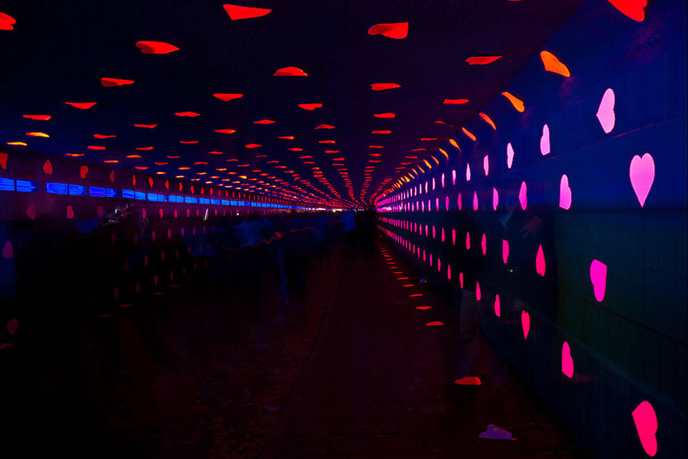 Glowing Tunnel of Love in the Netherlands