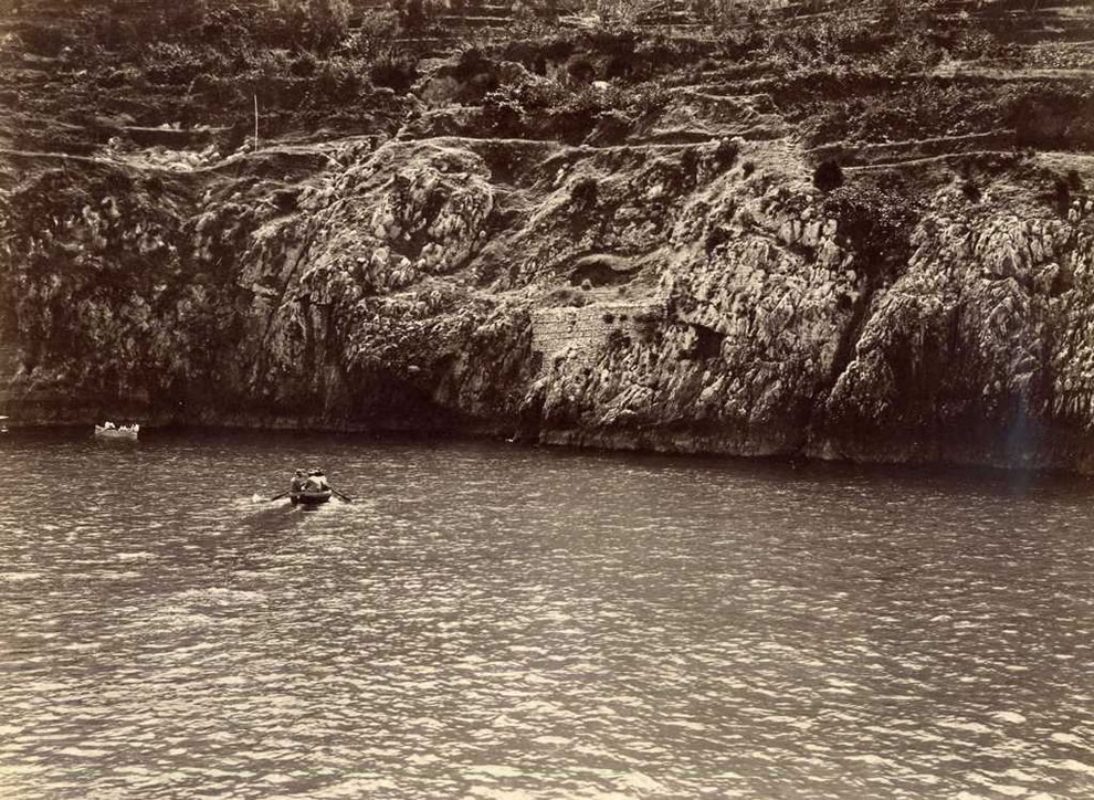 Island of Capri Entrance to the Blue Grotto in early 20th century