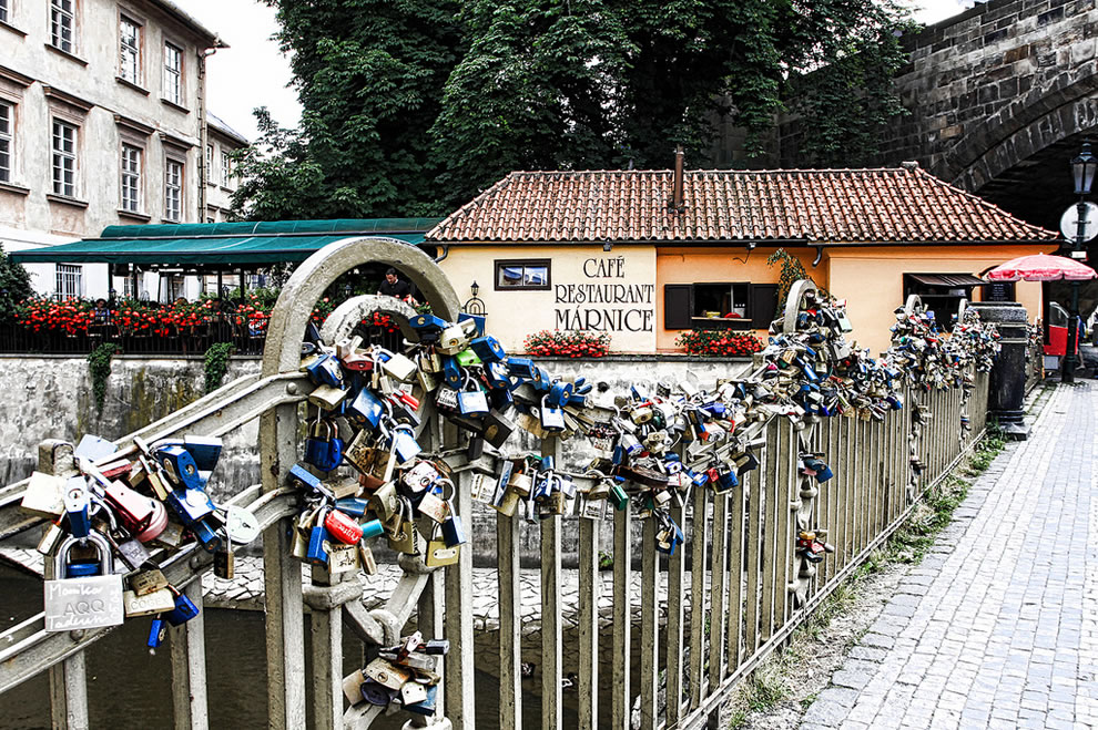 Love Padlocks on Karluv Bridge, Prague