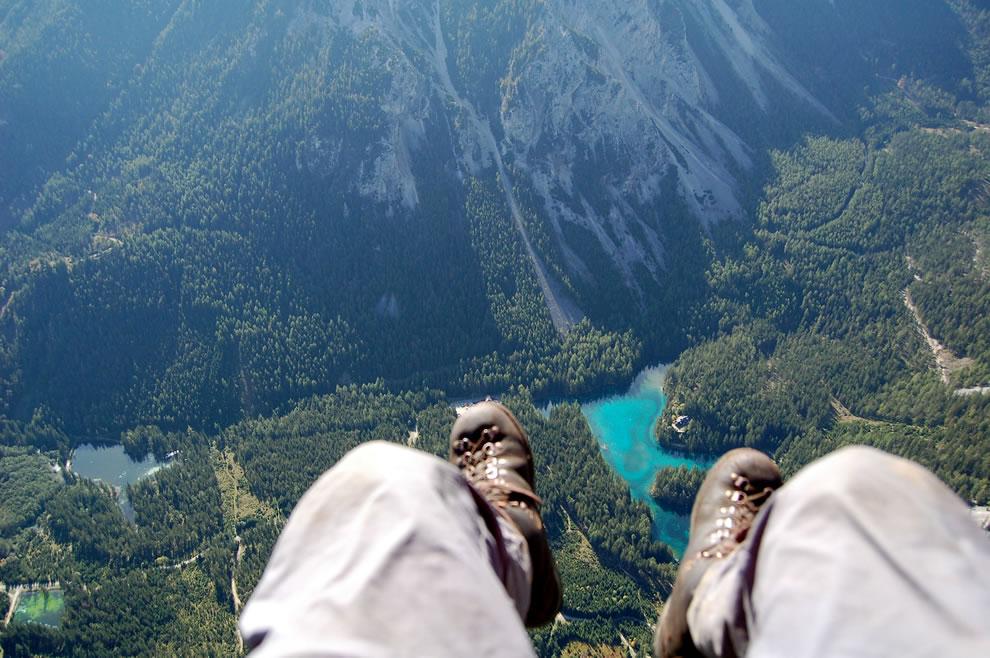 Paragliding over Grüner See