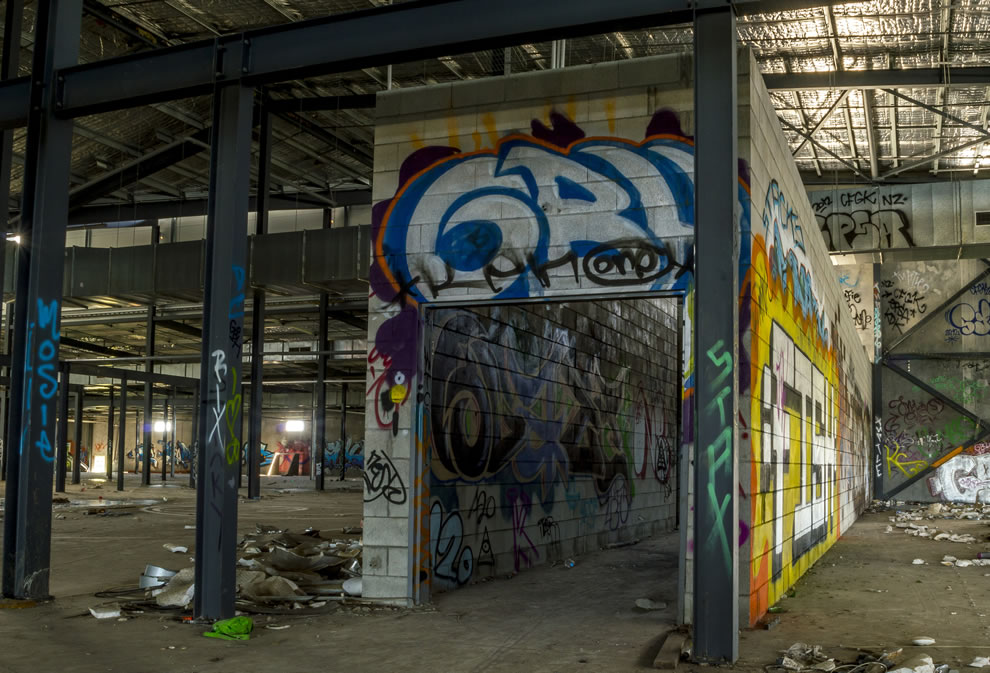 Tunnel Of Love with heaps of graffiti