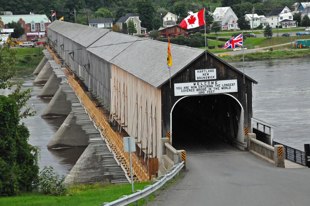 Tunnel of Love Hartland covered bridge in New Brunswick, Canada