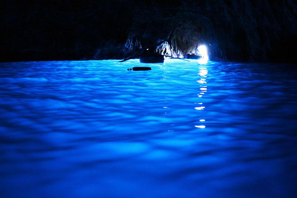 Underwater sea cave Blue Grotto in Capri