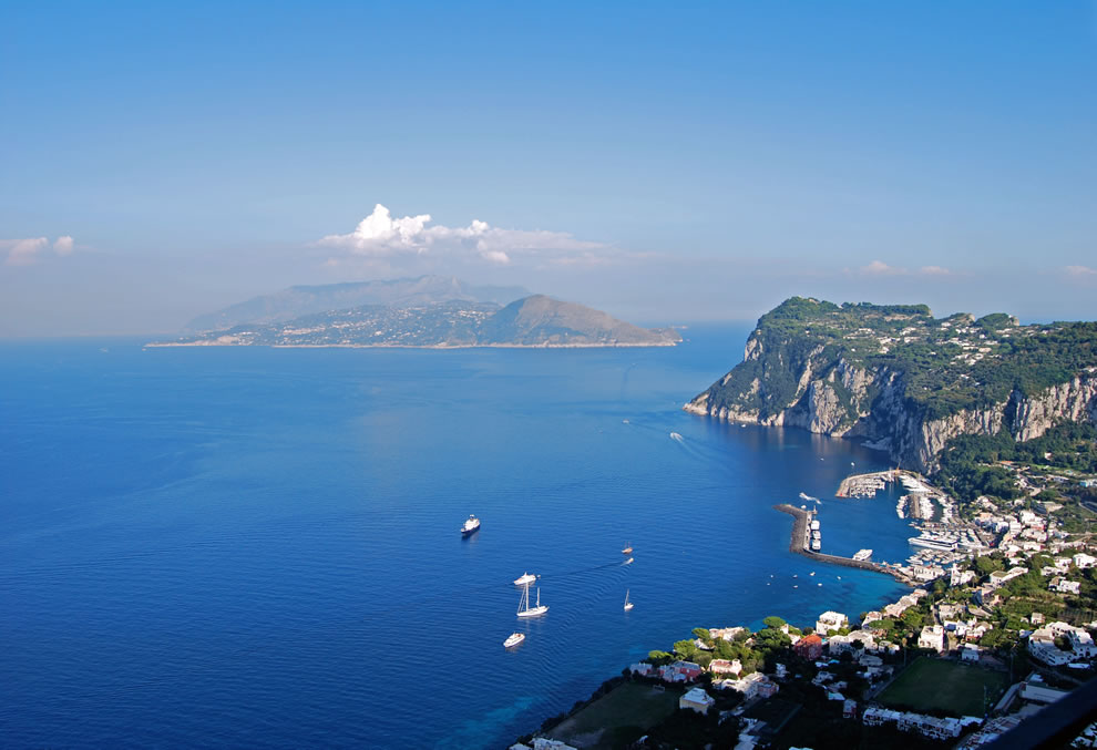 View from Villa San Michele towards Marina Grande