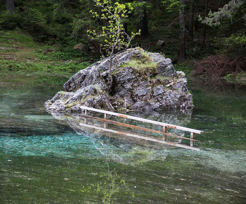 Water over the bridge at Green Lake