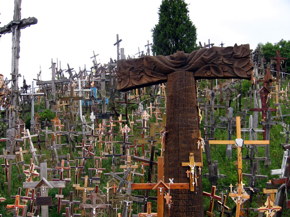 Carvings on crosses