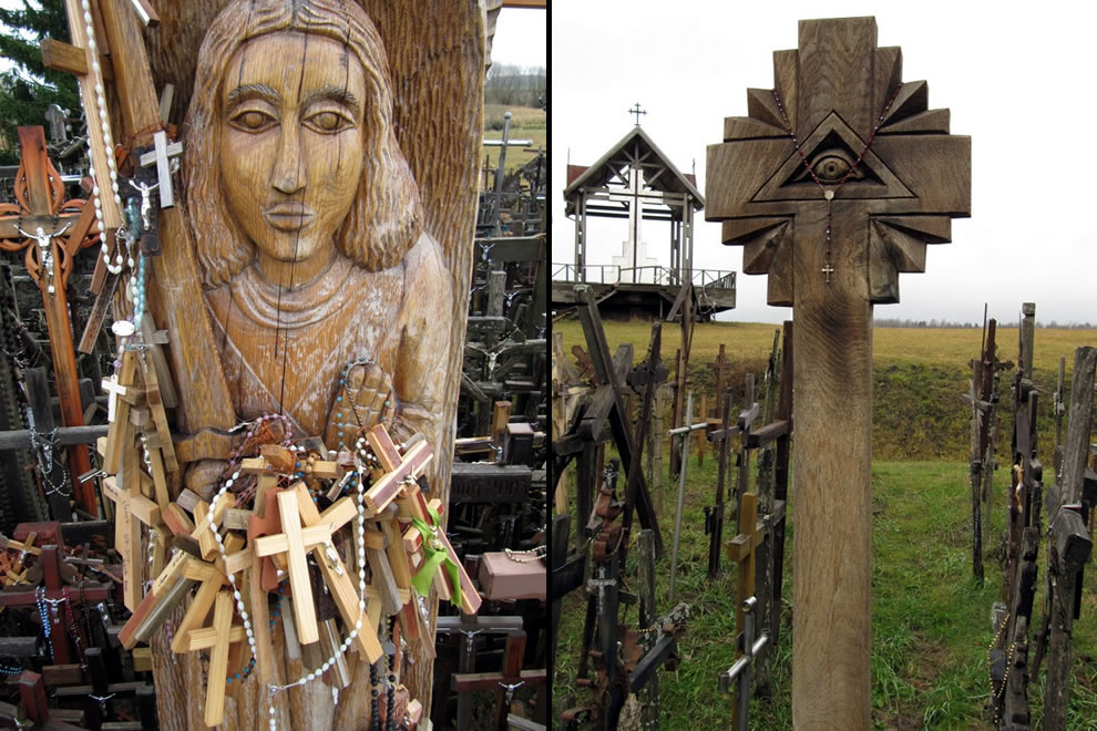 Crosses and statues at Siauliai