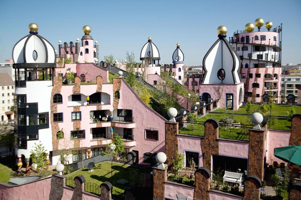 Die Grune Zitadelle von Magdeburg