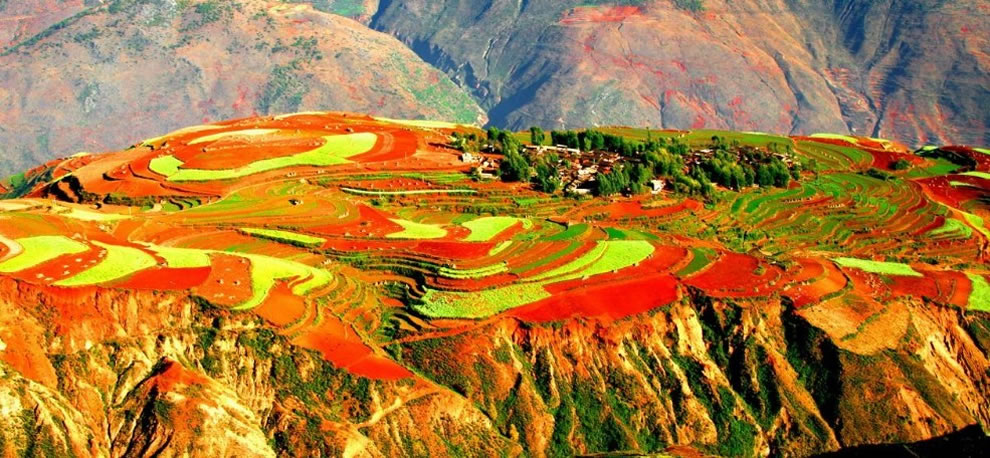Dongchuan, a rural place in the Wumeng Mountainous area