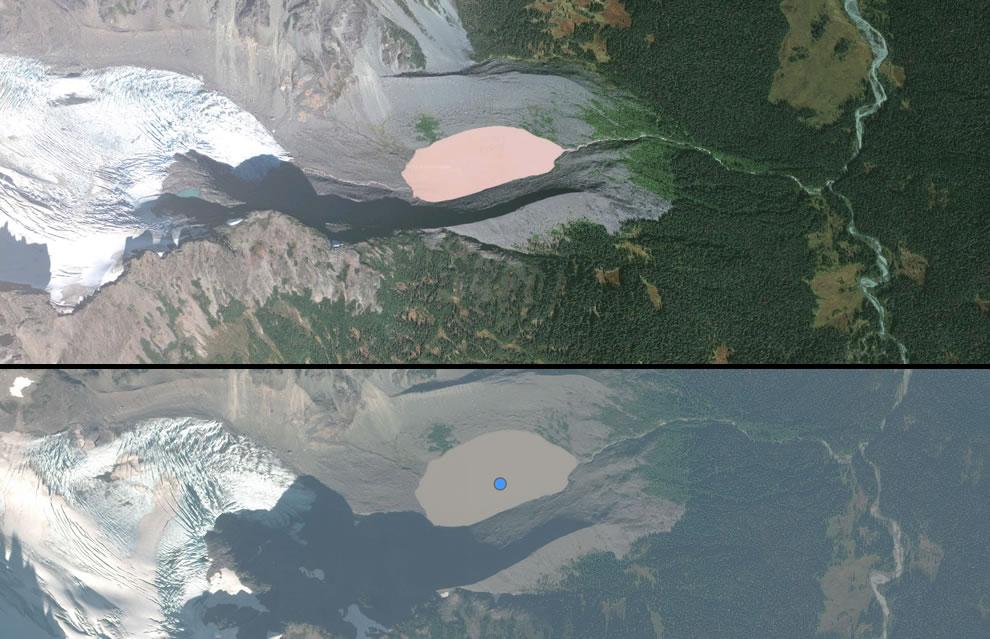 Dusty Rose Lake in British Columbia