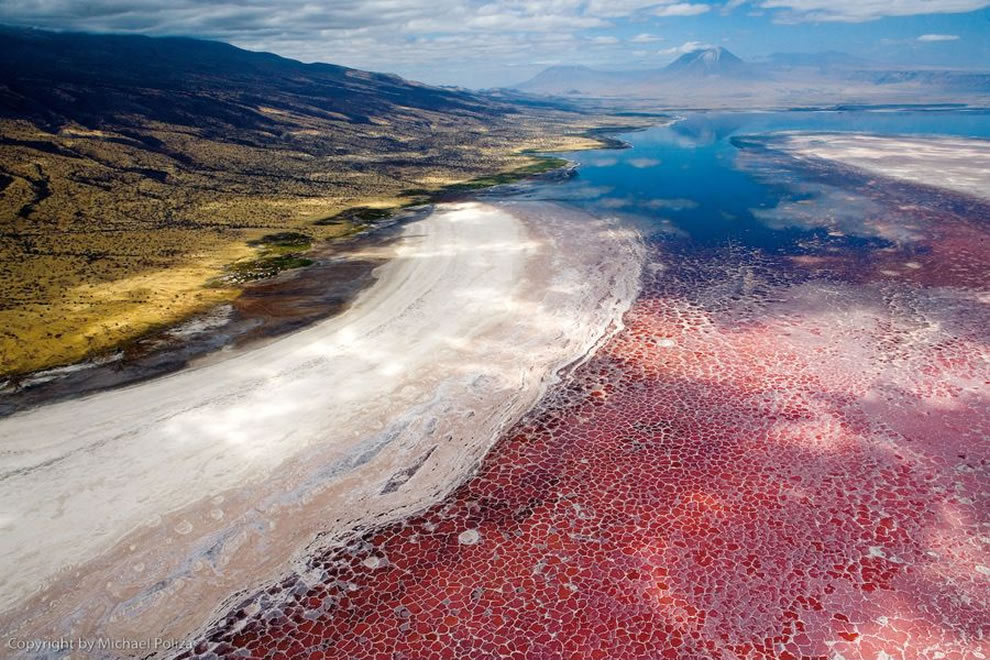Lake Natron and Africa from above